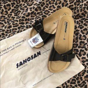 New Sanosan Black Comfort Sandal 9